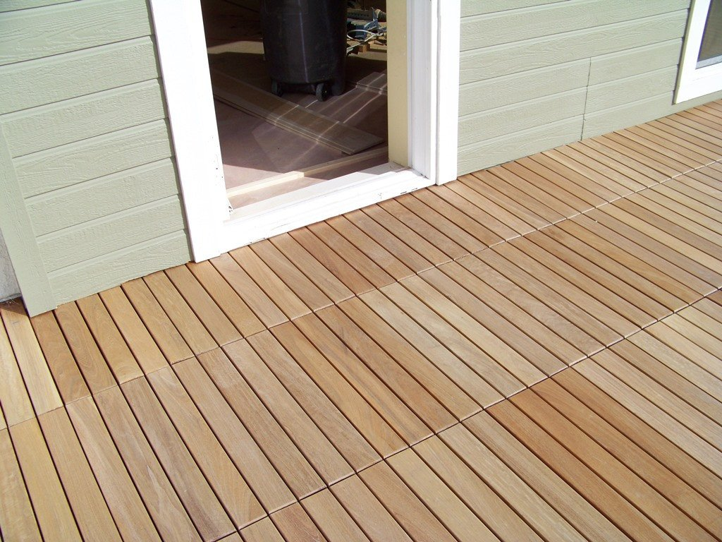 ... eco decking tiles premium interlocking garapa blonde wood deck tiles ... YLKFFTM