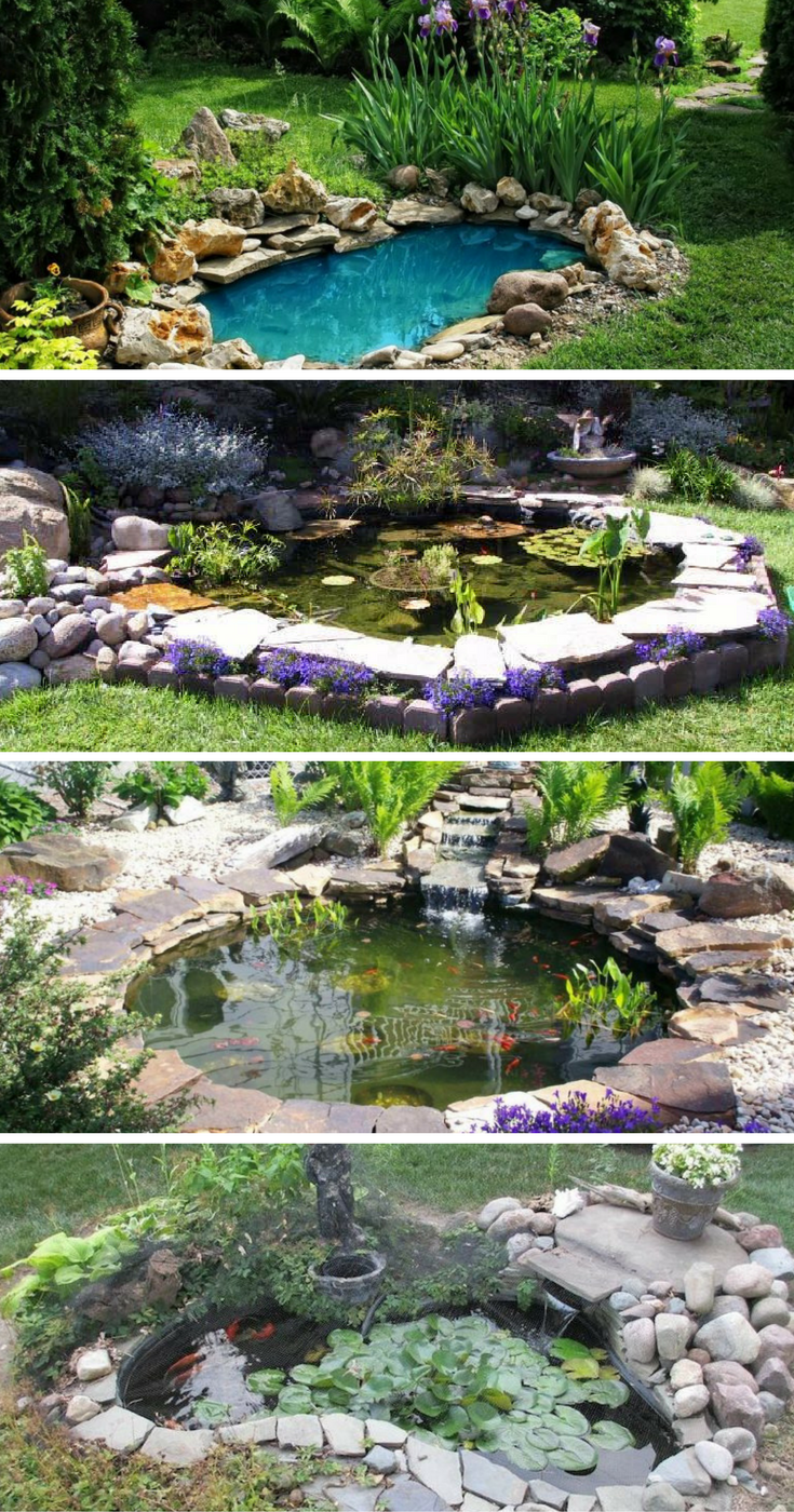 15 awe-inspiring garden ponds that you can make by yourself CSBREQL