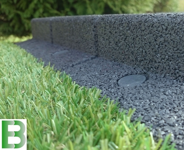 1m flexi-border garden edging in grey - h8cm - by ecoblok £11.99 FDAEXJZ