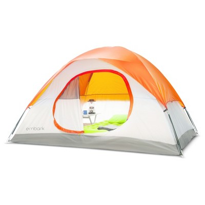 4 person dome tent orange - embark™ RFJNNYV