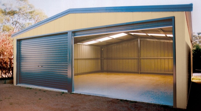 9.00 x 5.00m steel double garage - double