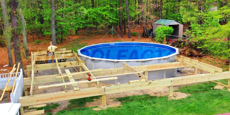 above ground pool deck ideas ... above-ground-pools-240 ... DQPSEJF
