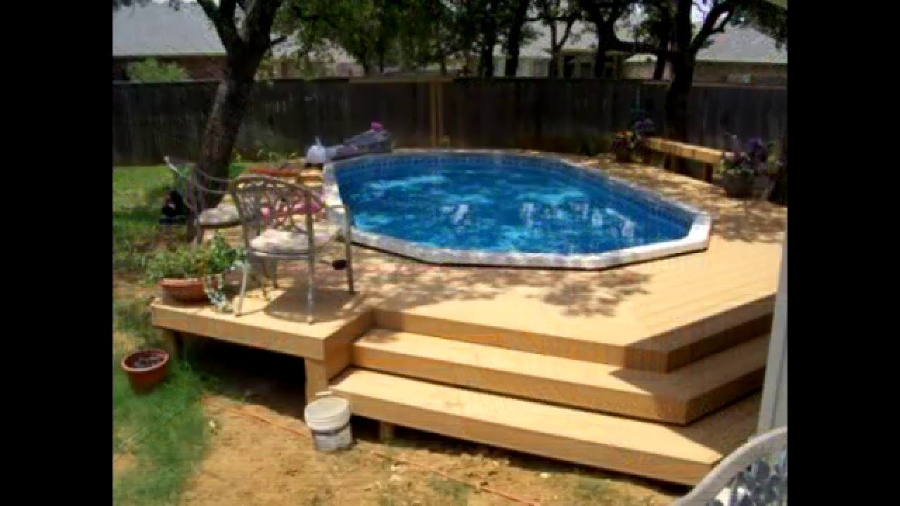 above ground pool deck ideas BZJTMZQ