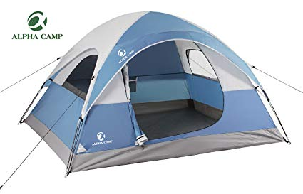 alpha camp 3 person dome tent for camping backpacking tent - 8u0027 UGDFGAQ