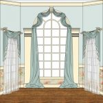 arched window treatments - contemporary arched window treatments