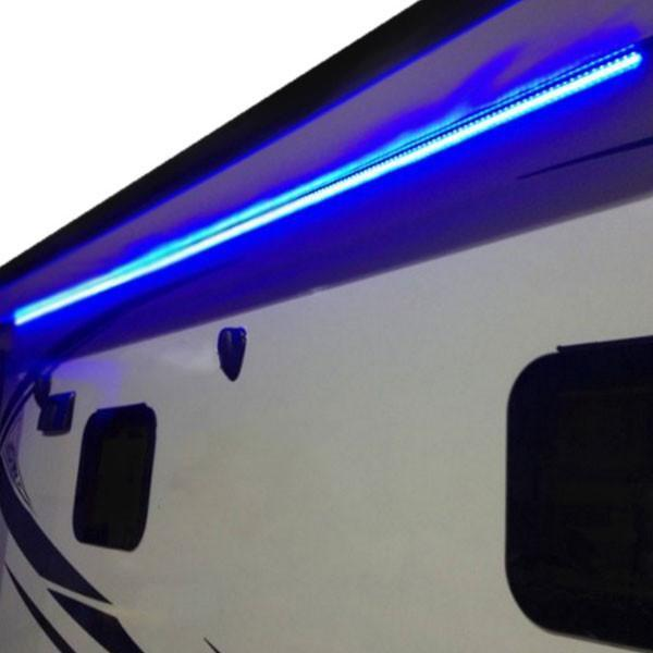 awning lights 20u0027 led rv awning party light w/ mounting channel ... WQHWHDT