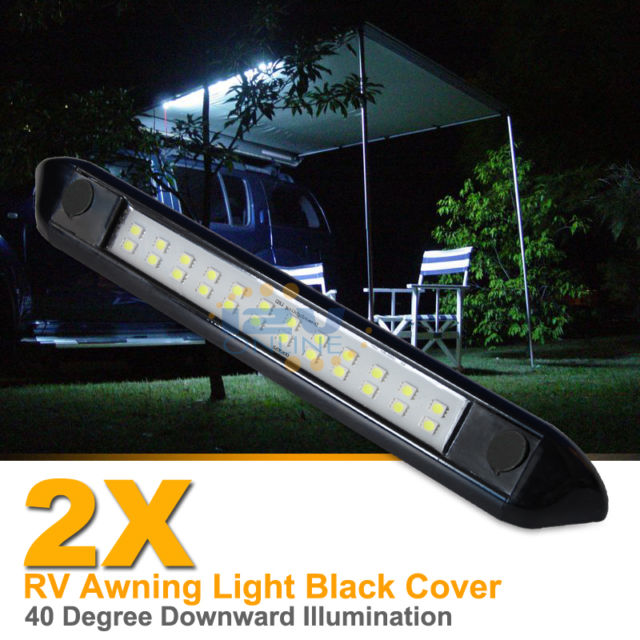 awning lights 2x 12v led awning light rv camper trailer boat exterior camping bar RUNOMRX