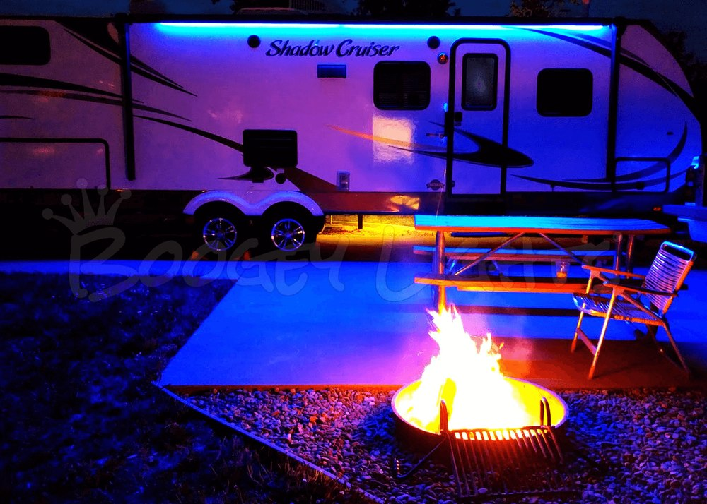 awning lights led awning light for rvs, trailers and campers. shown here in our XZARKPB