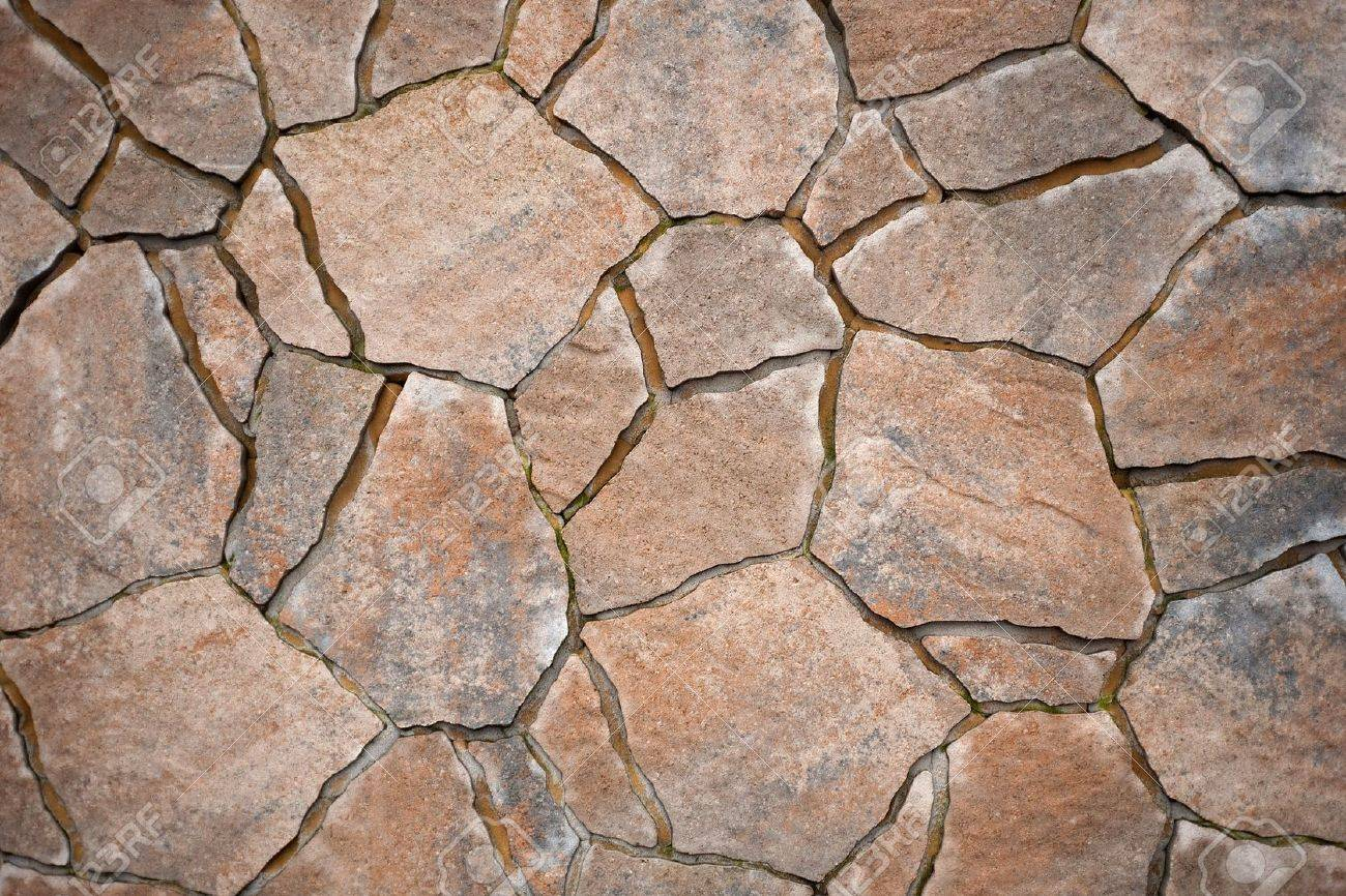 background from paving stones, irregular natural stones stock photo -  6071947 XUUMDTC