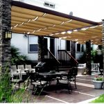 backyard canopy outdoor-pillars-patio-canopy JYNCYJO