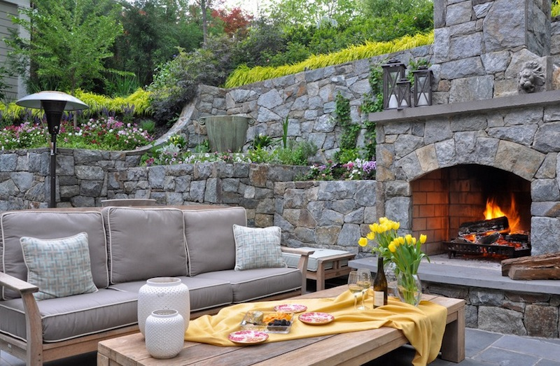 backyard design ideas gray seating set ICXMGRG