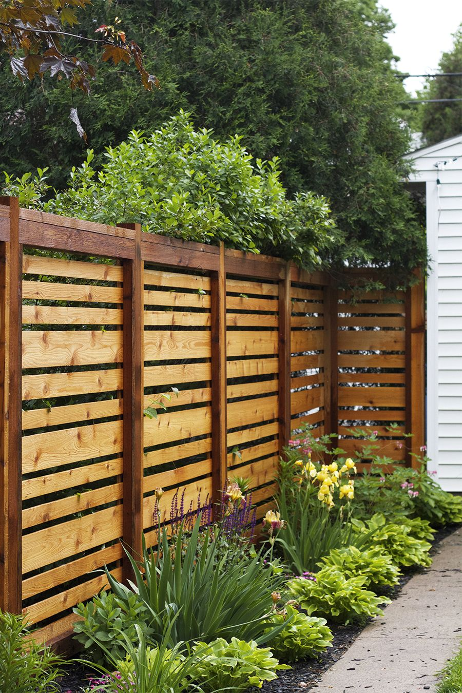 backyard fence ideas if we ever have to re-build our fence, this style is awesome. QCEKKRA