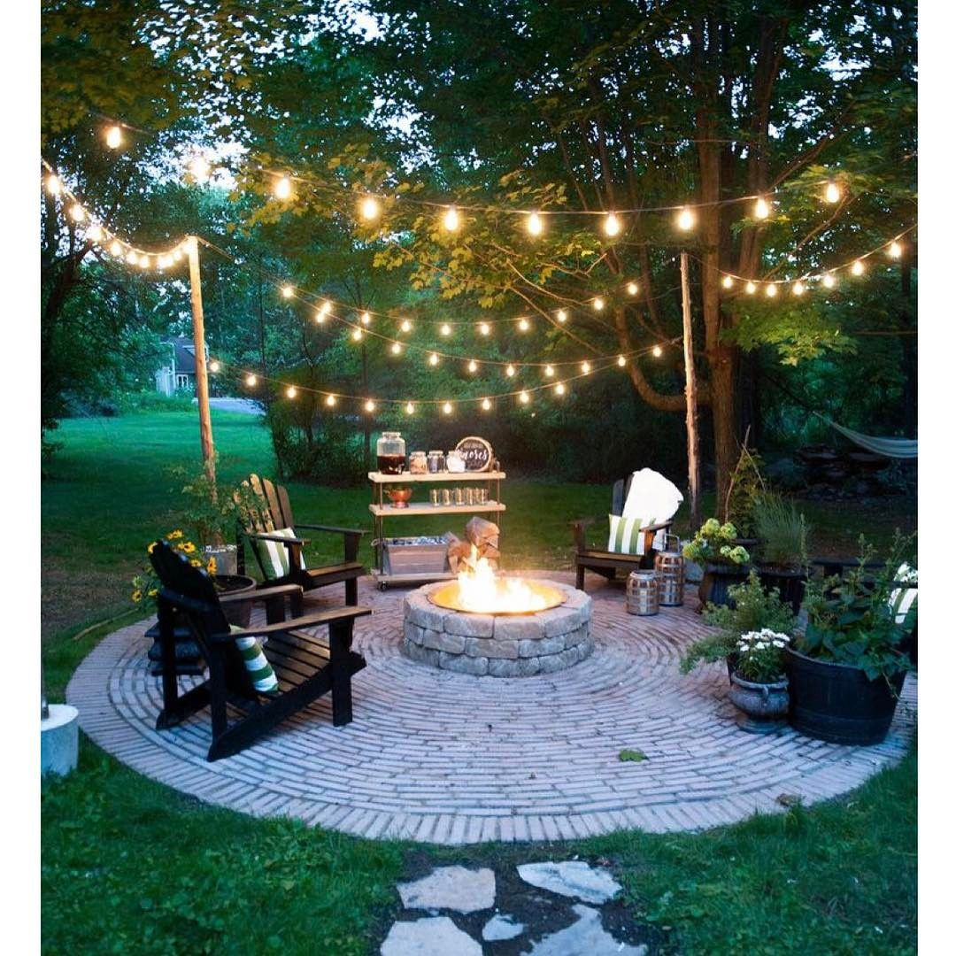 backyard lights 18 backyard lighting ideas - how to hang outdoor string lights JPPJMRX