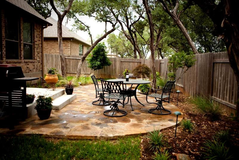 backyard patios flagstone patio, small backyard patio greenscapes landscaping and pools  austin, tx PWTAELR