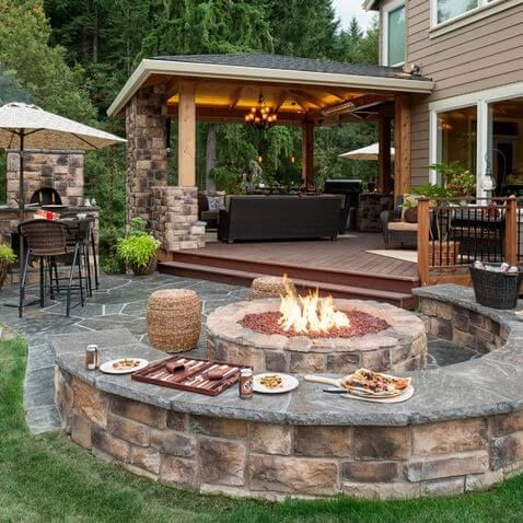 backyard patios sitting here making smores... oh yeah! backyard patio design idea WKBGHWK