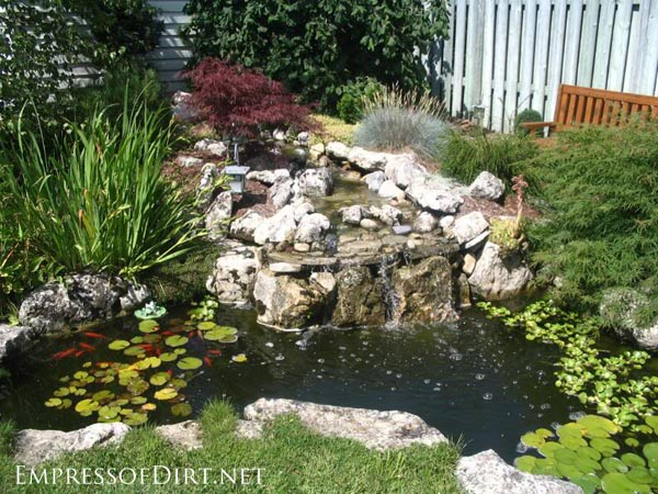 backyard ponds beautiful backyard pond ideas for all budgets | medium size inground garden XYLMQXO