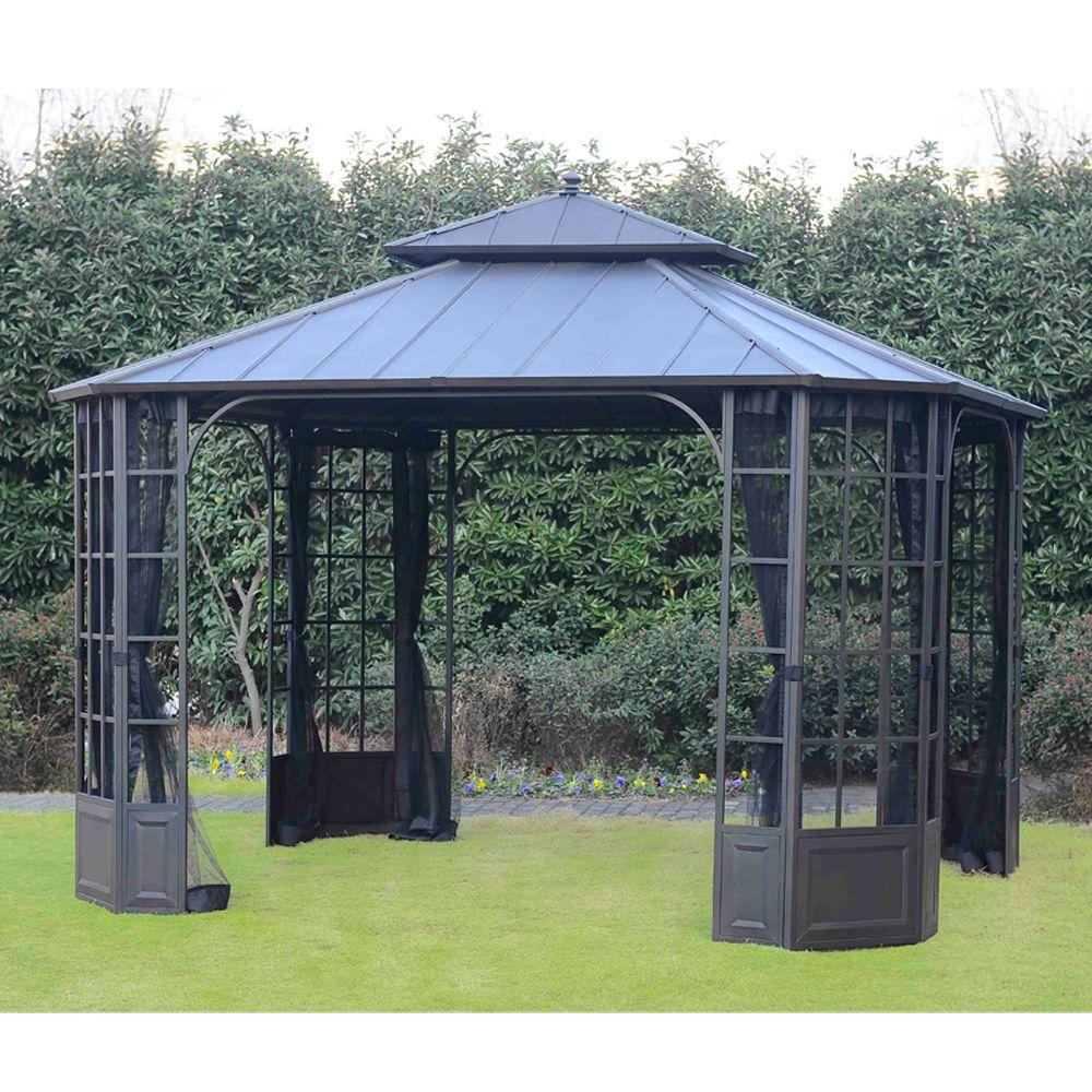 bay window hard top gazebo PUJYWGU