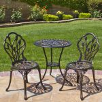bistro patio set best choice products cast aluminum