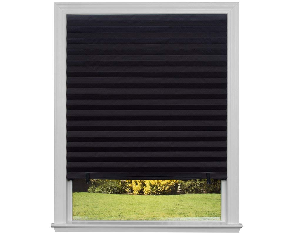 blackout blinds amazon.com: original blackout pleated paper shade black, 36u201d x 72u201d, 6-pack: TQUAUAP