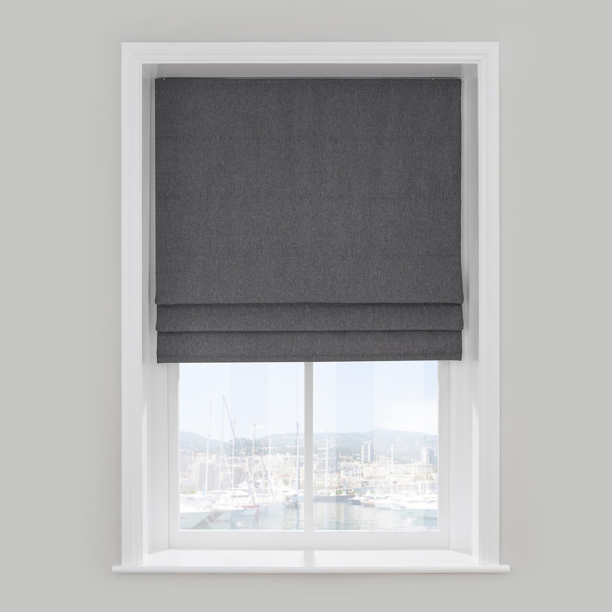 blackout roman blinds barkweave charcoal roman blind PEQUJSS