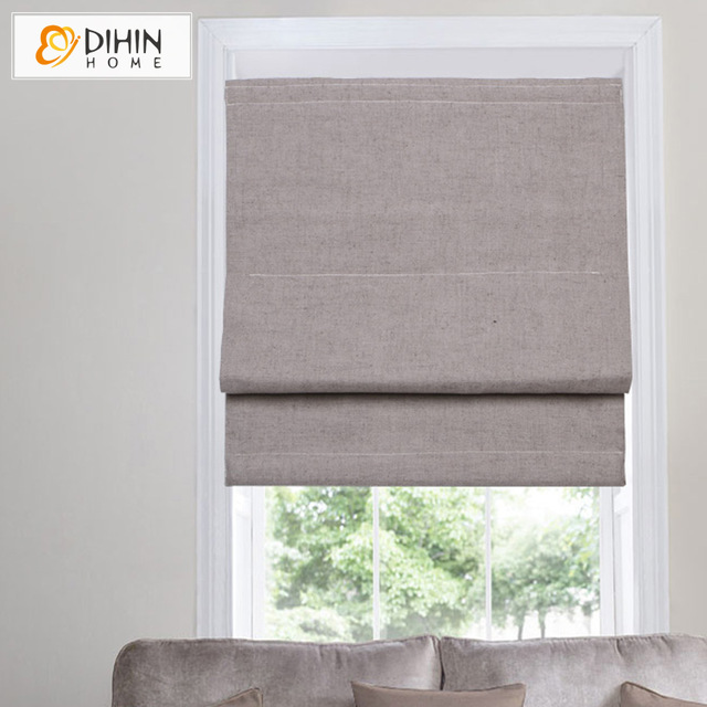 blackout roman blinds dihin home cotton/linen blackout curtain roman blinds curtain for kitchen  bathroom FMGRXIA
