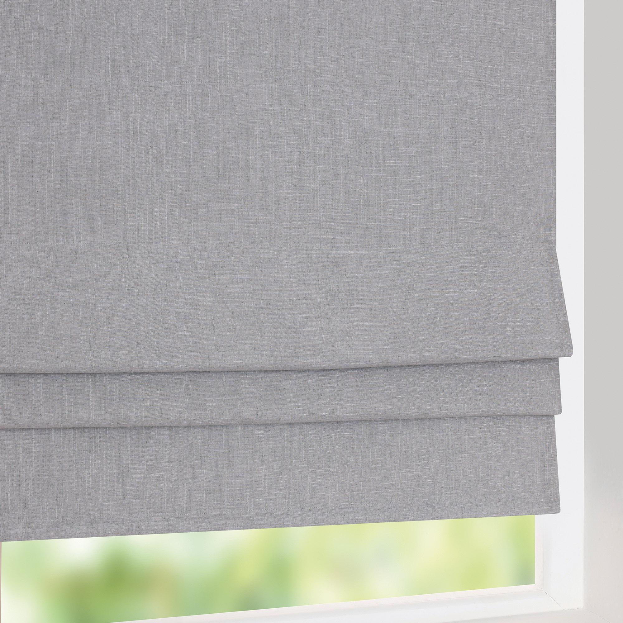 blackout roman blinds grey linen thermal blackout roman blind LCBRZRP