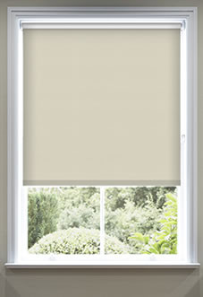 blackout roman blinds image for rimini (blackout), cream - roller blind ... AXEOHUS