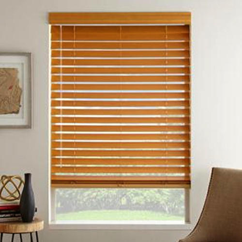 brown wooden blinds WFODQCF