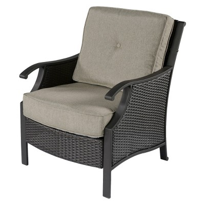capitol peak 4-piece wicker patio chair set OCZJDYI