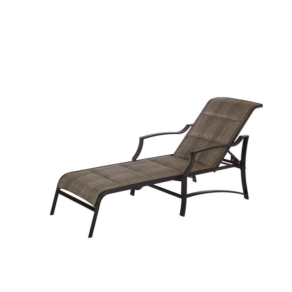 chaise lounge outdoor hampton bay statesville pewter aluminum