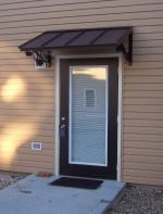 classic metal door awning - black metal powder coat more MDOJPVA