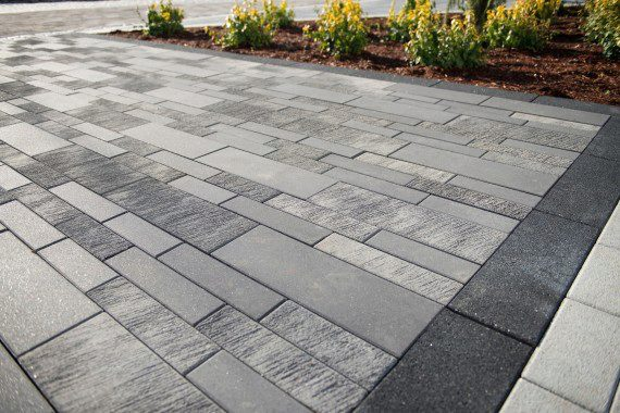 concrete pavers ... but when your design preferences