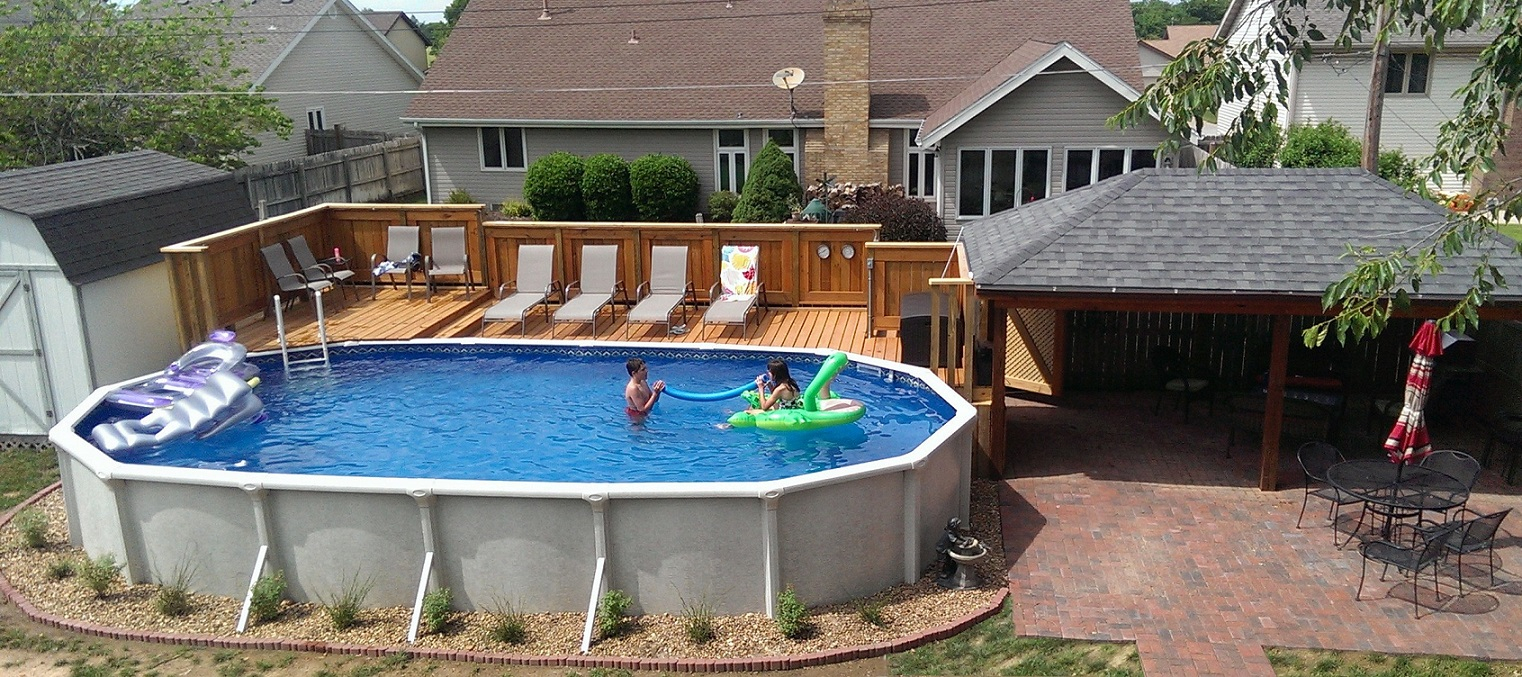 cool oval above ground pool deck ideas homestylediary regarding size 1522 x VWFKOSR