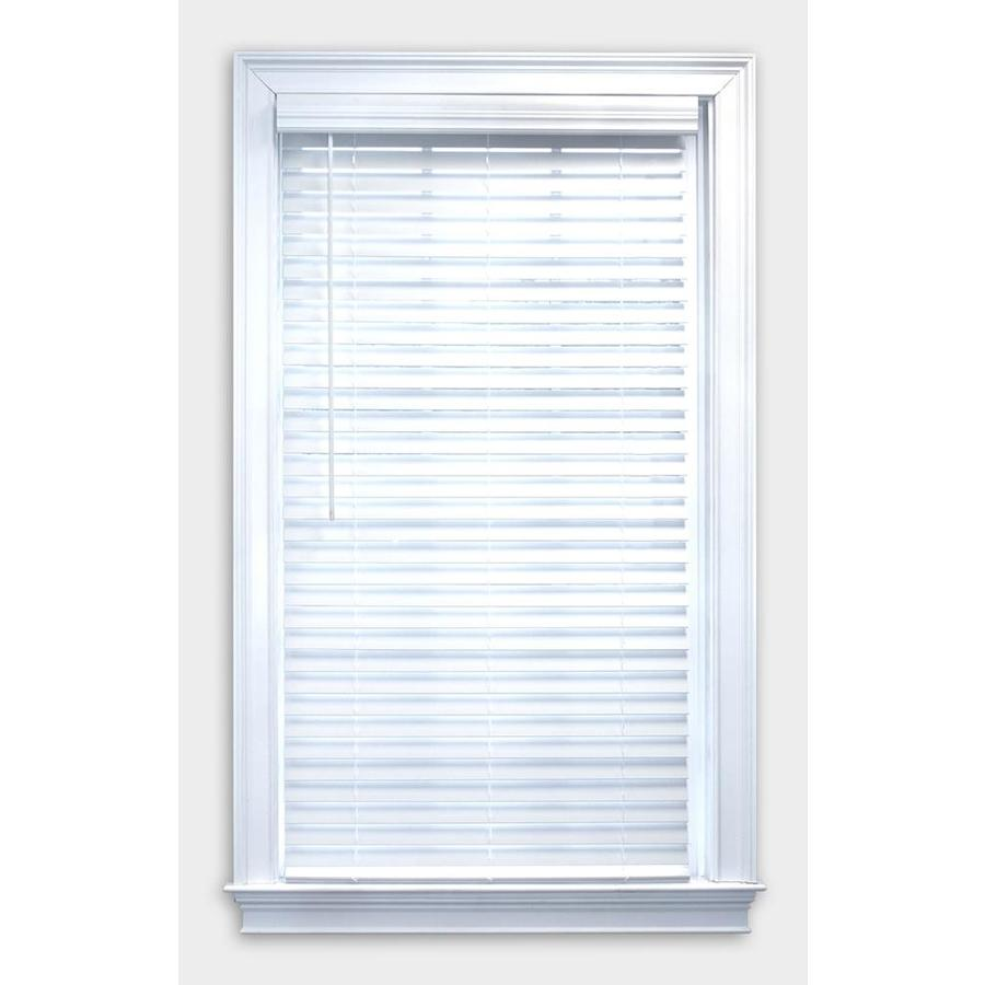 cordless blinds a + r 2-in cordless white faux wood blinds (common: 35- OMIIAYJ
