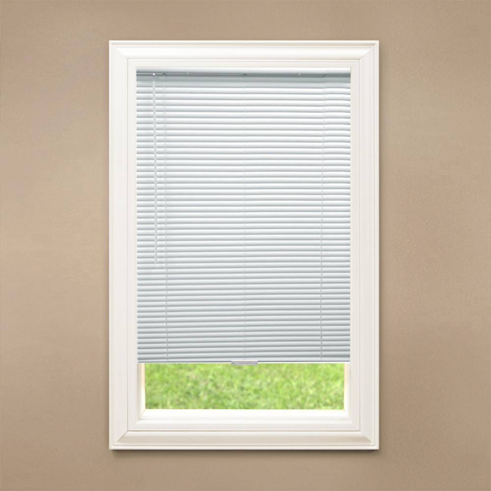 cordless blinds hampton bay cut to width white cordless 1 in. blackout vinyl blind FRABDCP