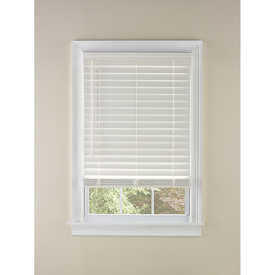 cordless blinds levolor 2-in cordless white faux wood blinds (common: 35-in; RHZZGSW