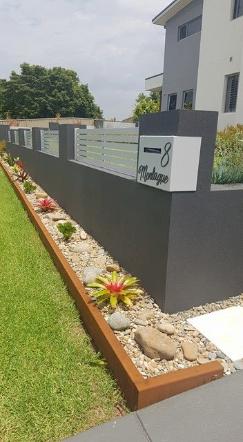 corten garden edging with return fold by ironbark metal design XJOMBDQ