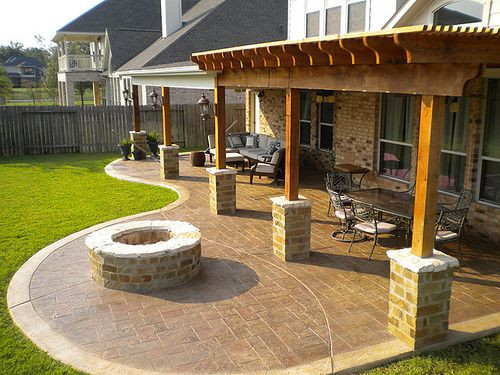 covered patio cost new patio cover and cedar pergola with stamped concrete EVMACUZ
