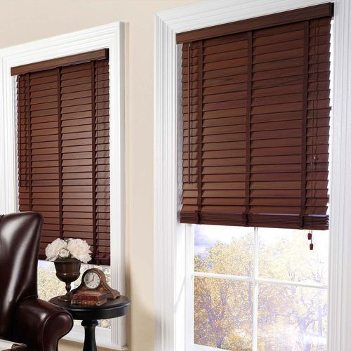 dark coffee wooden blinds BEEWDDV