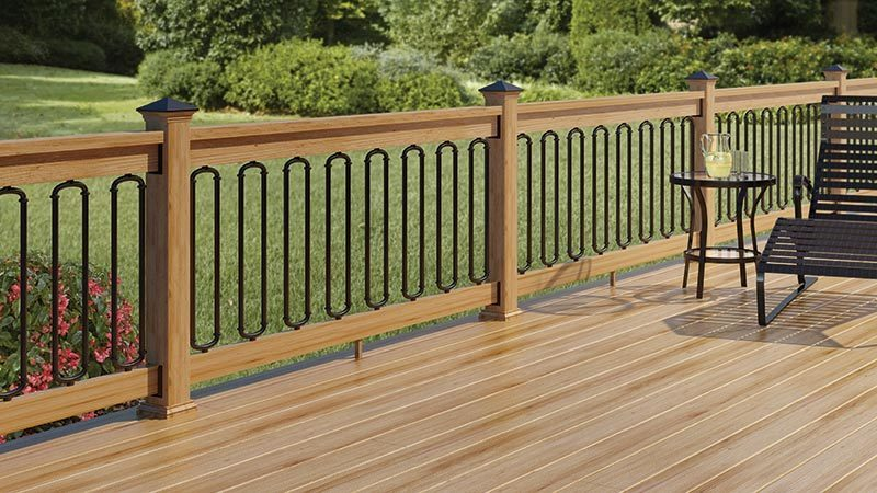 deck balusters black classic baluster with arched connectors ERGXVXW