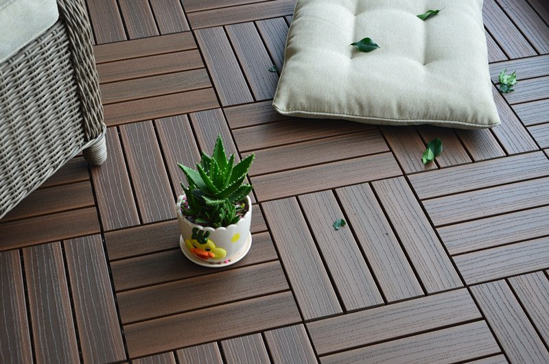 deck tiles composite walnut 12 QVOIQOY