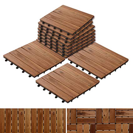 decking wood patio pavers | composite decking flooring and deck tiles | acacia wood SOCHLIV