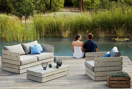 diy outdoor garden furniture 3 steps diy deck furniture RVSDZKM