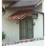 door awning 10 ft copper door or window