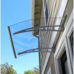 How is a door awning different from a door canopy?