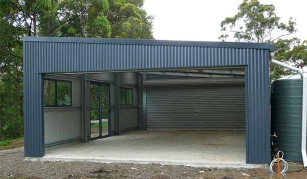 double garage with skillion roof double garage with