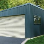 double garage with skillion roof OPIIZKS