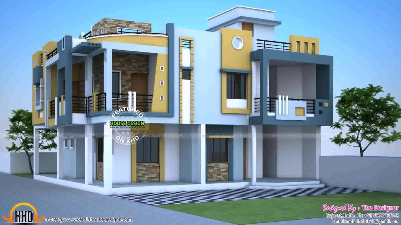 duplex house exterior design pictures in india BDZOSWG
