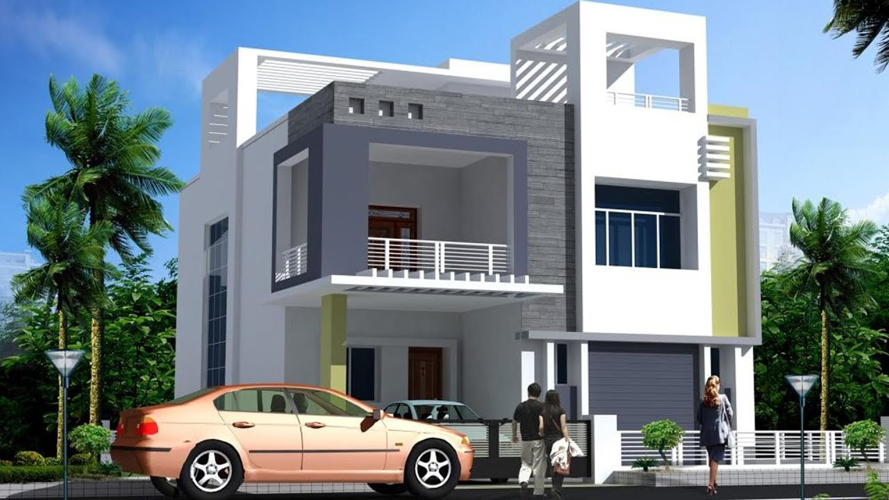 elevation designs modern double floor house front elevation plans and designs | housing loans TQKKGQI