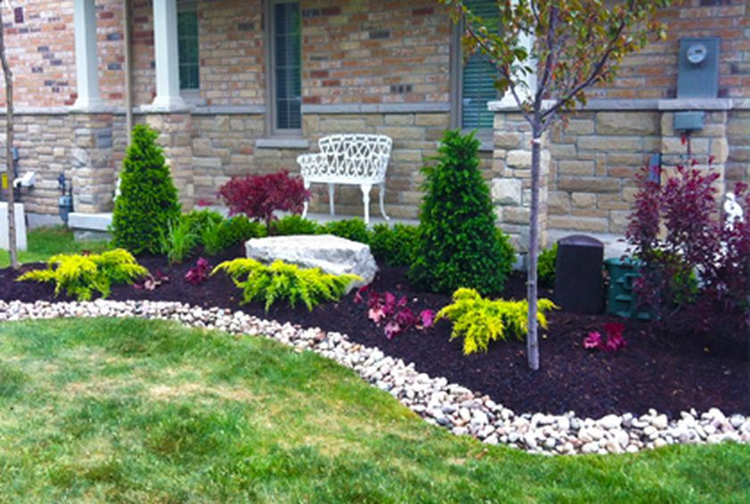evergreen landscaping front yard evergreen landscape garden 12 FEFVUMK
